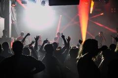 Konsert i den London klubban Arkivbild