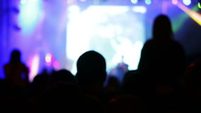Konsert i en nattklubb stock video