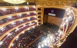Konsert i Granen Teatre del Liceu Fotografering för Bildbyråer
