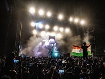 Konsert i Indien royaltyfri foto