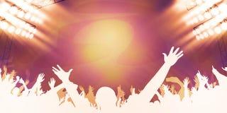 Konsert och åhörare Arkivbild