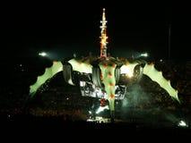 konsert u2 royaltyfri foto