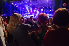 Konsert utanför Royaltyfria Foton