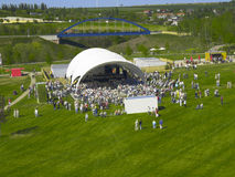 konsert utomhus Fotografering för Bildbyråer