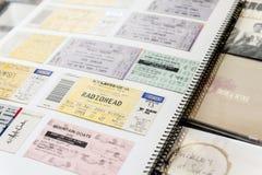 Konsertbiljetter Royaltyfria Bilder