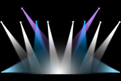 Konsertetappbelysning Arkivfoto