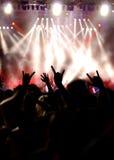 konsertfolk Arkivfoton