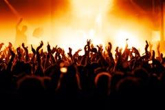 konsertfolkmassa Arkivbild