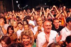 Konsertfolkmassa royaltyfri fotografi