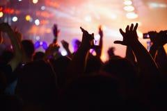 konsertfolkmassa Arkivbilder