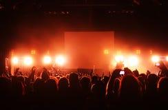 konsertfolkmassa arkivfoto