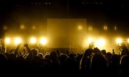 konsertfolkmassa Royaltyfria Foton