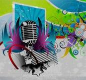 konsertgrungeaffisch Royaltyfri Fotografi