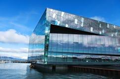 Konserthall i reykjavik arkivbild