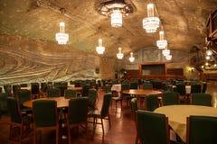 Konserthall i Wieliczka salt min, Polen. Royaltyfri Fotografi