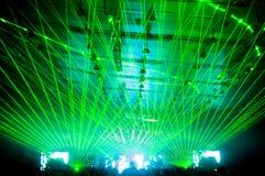 konsertlaser-show Arkivbilder