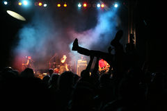 konsertmusiksilhouettes Royaltyfria Bilder