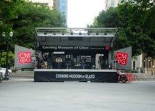 Konservera museet av den Glass yttersidautställningen royaltyfria bilder
