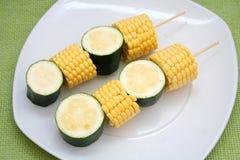 konservera zucchinien Arkivfoton