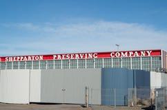 Konservfabrik för SPC Ardmona i Shepparton Australien Arkivbilder