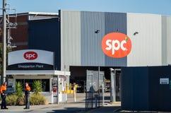 Konservfabrik för SPC Ardmona i Shepparton Australien Arkivfoto