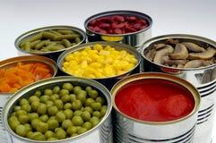 Konservierte Gemüsemischung stockbilder