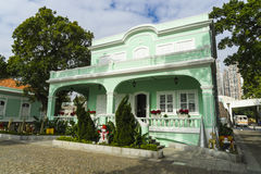 Konserviertes Kolonialhaus, Macau, Taipa Stockfotografie