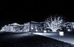 Konserwatorium przy nocą, Longwood ogródy, PA Zdjęcie Royalty Free
