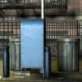 konserwować śmieciarską ulicę Fotografia Stock