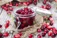 Konserwować Cranberries Zdjęcia Royalty Free