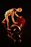 Konserwować owoc z drewnianą lalą Obraz Royalty Free