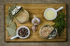 Konserwować tuńczyk w oleju Zdjęcie Royalty Free