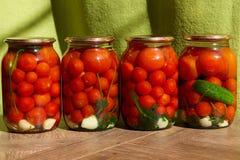 Konserwować pomidory Zdjęcia Stock