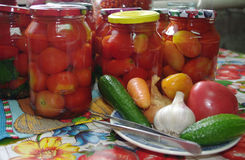 konserwować warzywa Zdjęcie Stock