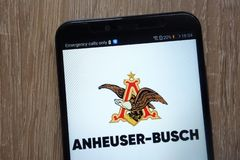 Anheuser-Busch InBev logo   displayed on a modern smartphone royalty free stock photography