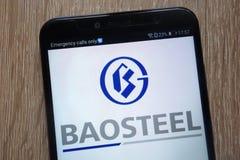 China Baowu Steel Group   logo displayed on a modern smartphone royalty free stock photo