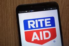 Rite Aid logo displayed on a modern smartphone royalty free stock photography