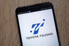 Toyota Tsusho logo displayed on a modern smartphone stock image