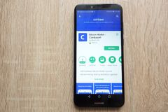 Coinbase Bitcoin Wallet App On Google Play Store Website Displayed