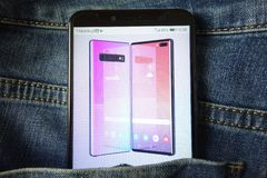 Free KONSKIE, POLAND - May 18, 2019: New Smartphone Samsung Galaxy Note 10 Concept Design Displayed On Mobile Phone Stock Image - 149061501