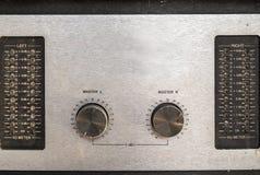 Konsol Grunge för sound blandare Arkivfoton