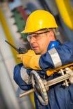 Konsol-Operator in der Öl- und Gasproduktion Lizenzfreies Stockfoto