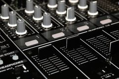 konsola melanżeru dźwięk Fotografia Royalty Free