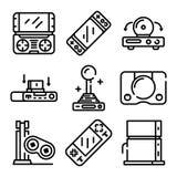 Konsolenikonensatz, Entwurfsart lizenzfreie abbildung