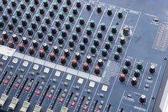 konsoli elektroniczna melanżeru muzyki dźwięka technologia Zdjęcia Stock