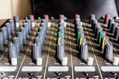 konsoli elektroniczna melanżeru muzyki dźwięka technologia Zdjęcie Royalty Free