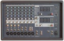 konsoli melanżeru dźwięk Zdjęcia Stock