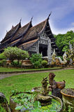 Konst av arkitektur i Thailand buddisttempel Royaltyfria Foton