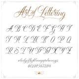 Konst av bokstäver Arkivfoton