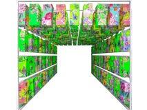 konst av den isolerade gröna inre för dekor för Japan lyktapapper Arkivbilder